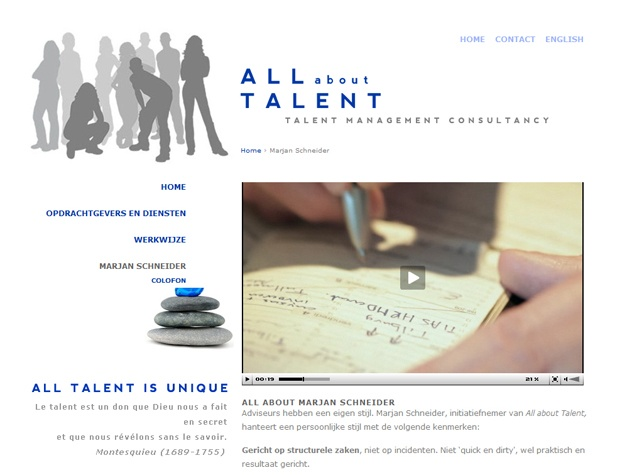 Videopagina  All about talent