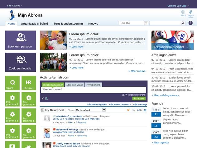 Abrona homepage