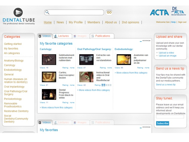 Homepage DentalTube
