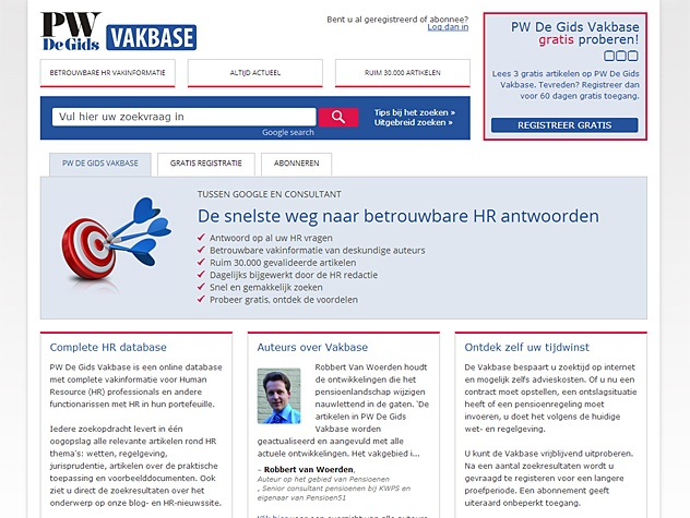 HR Vakbase homepage