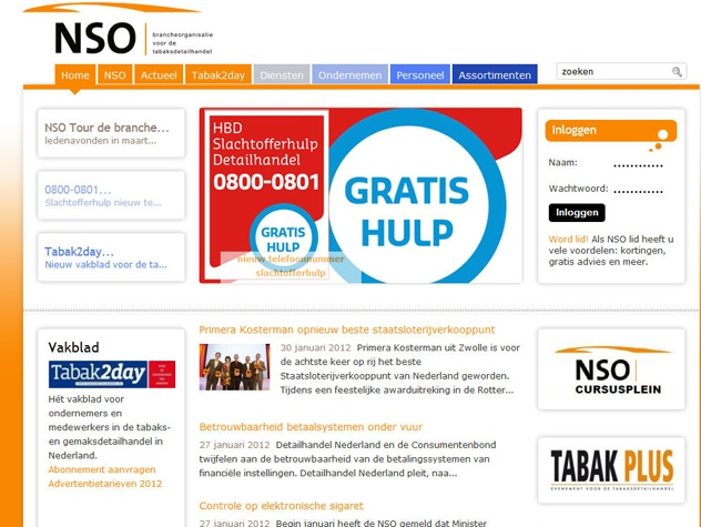 Homepage Tabaksdetailhandel