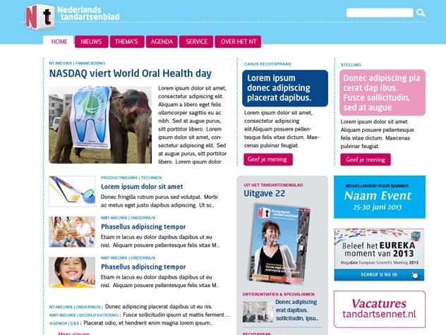 Nederlands tandartsenblad homepage