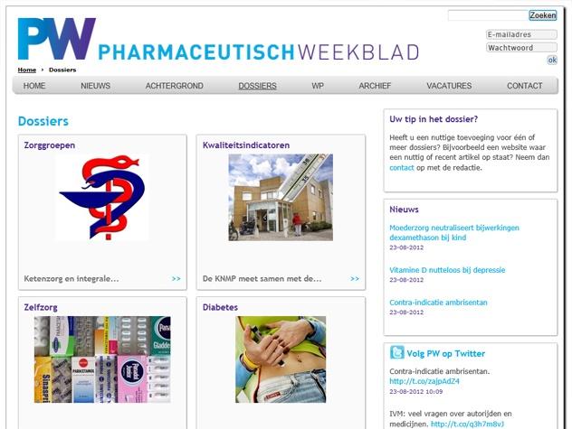 Dossiers PW | Pharmaceutisch Weekblad