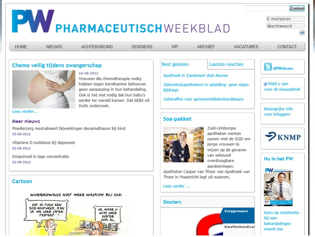 Homepage PW | Pharmaceutisch Weekblad