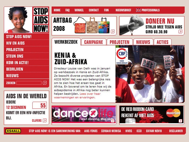 Homepage Stop Aids Now!