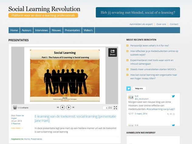 Social learning revolution presentaties
