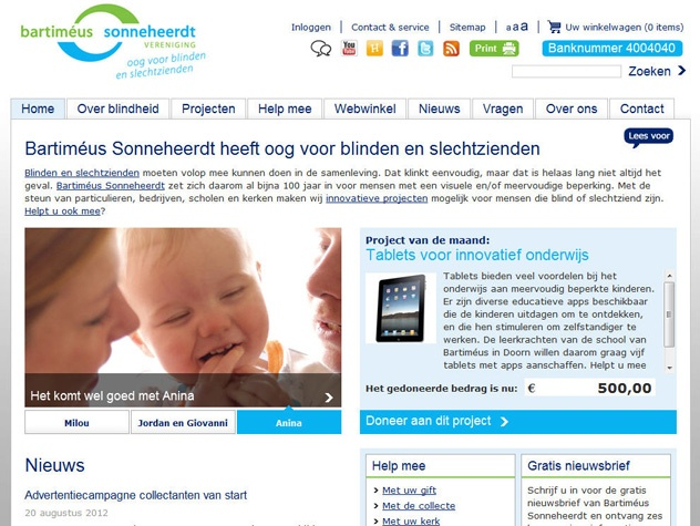 Homepage Steun Bartimeus