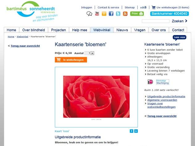 Webwinkel Steun Bartimeus