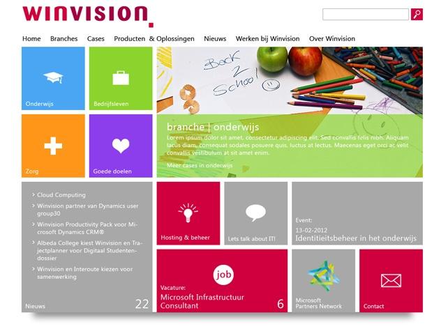 Homepage Winvision
