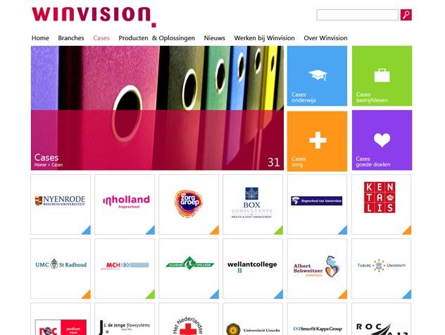 Overzicht cases Winvision