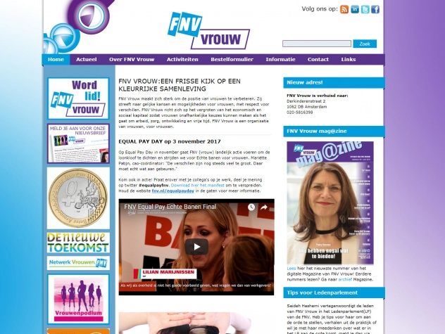 Homepage FNV Vrouw
