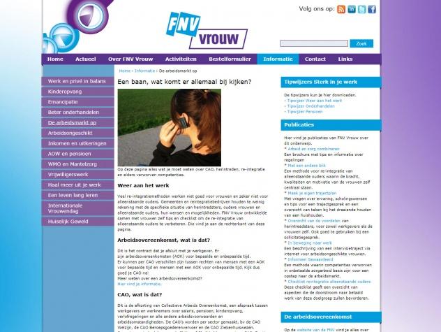 FNV Vrouw Informatie