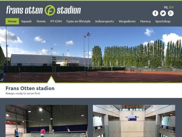 Frans Otten stadion homepage