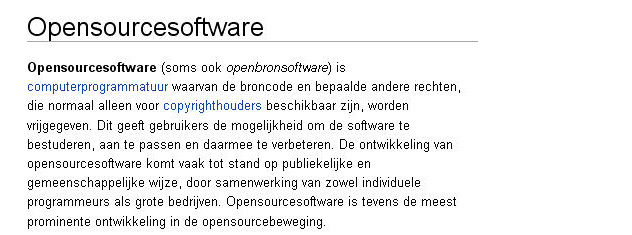 open source software definitie