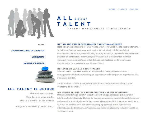 Homepage All about talent
