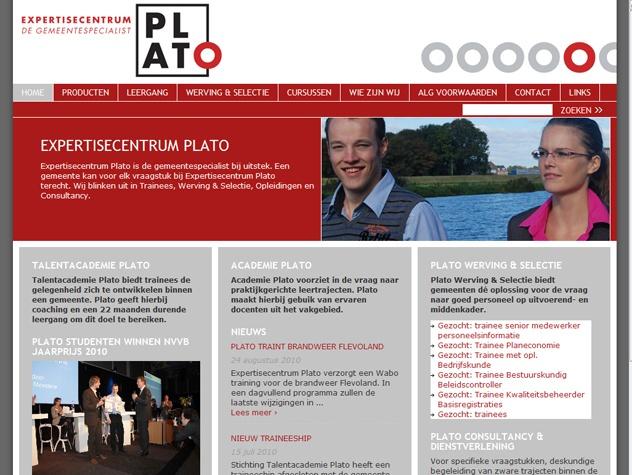 Homepage Academie Plato