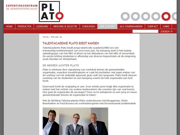 Vervolgpagina Academie Plato