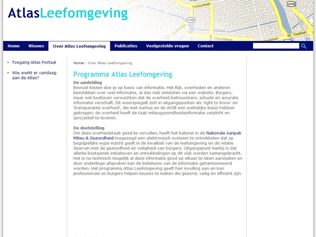 Vervolgpagina  Atlas Leefomgeving