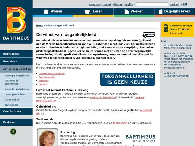 Vervolgpagina stichting Bartimeus: toegankelijkheid is geen keuze
