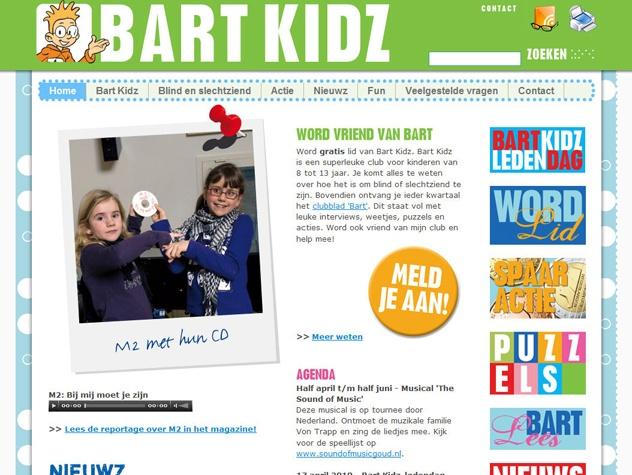 Homepage Bart Kidz