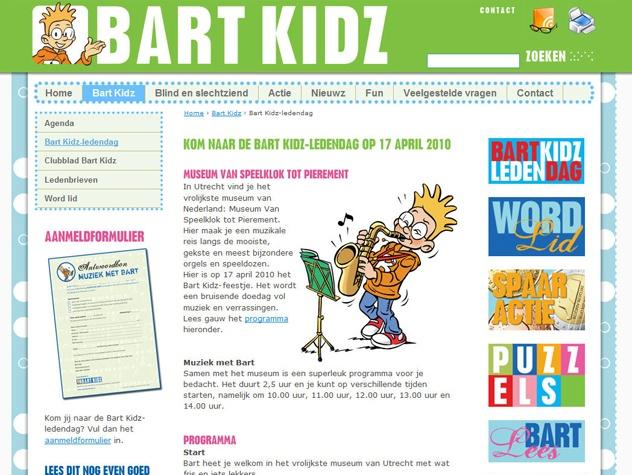 Pagina ledendag  Bart Kidz