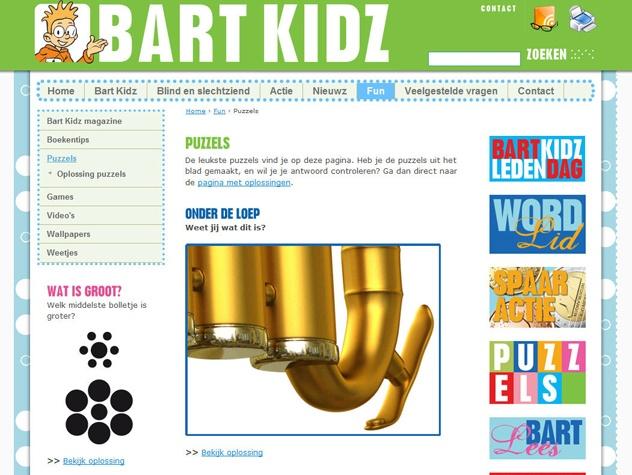 Puzzelpagina Bart Kidz