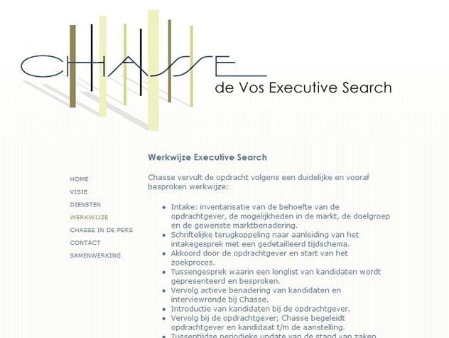 Werkwijze Chasse Executive Search