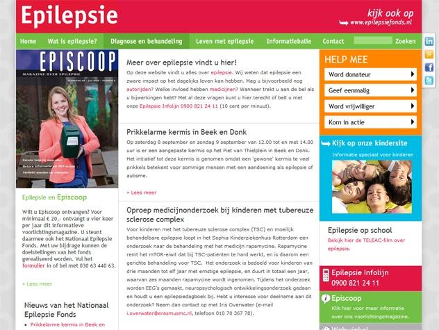 Homepage Epilepsie.nl