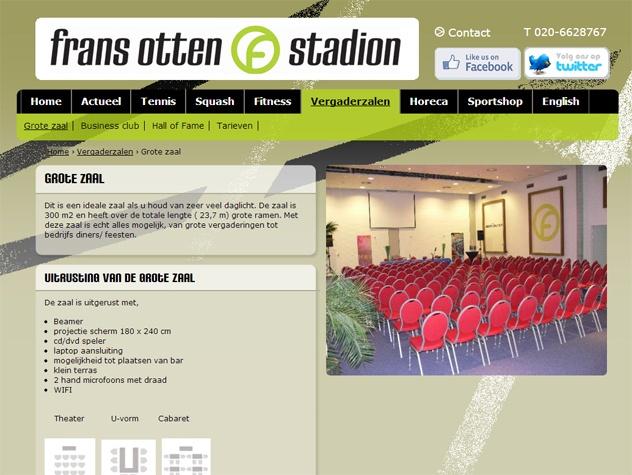 Frans Otten stadion vergaderzalen