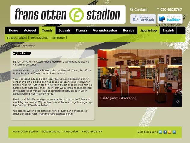 Frans Otten stadion sportshop