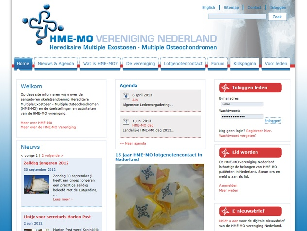 HME-MO vereniging homepage