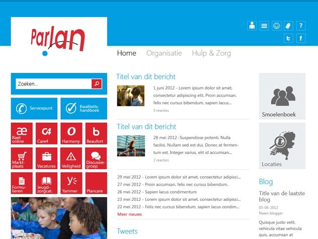 Homepage Parlan