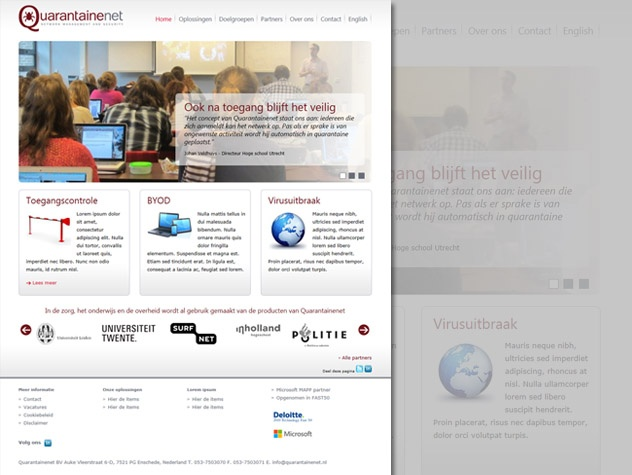 Quarantainenet homepage
