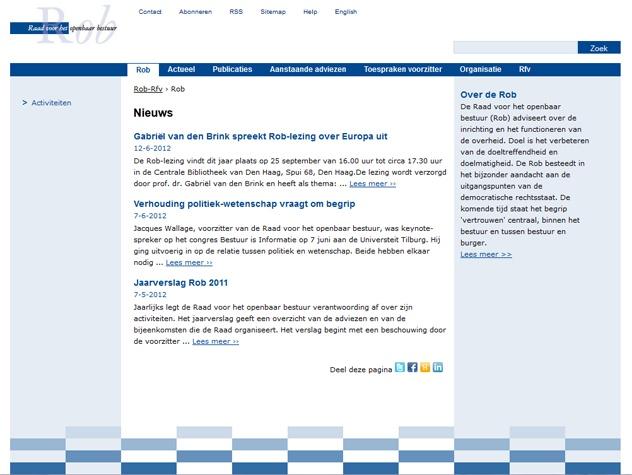 Homepage Rob