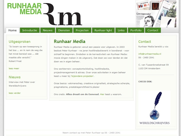 Homepage Runhaar media