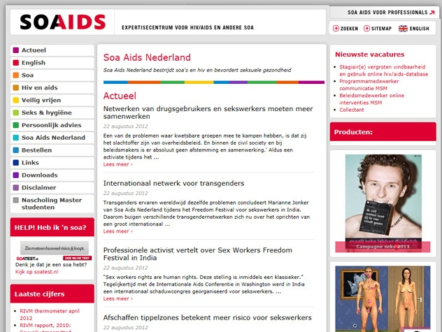 Homepage Soaaids.nl
