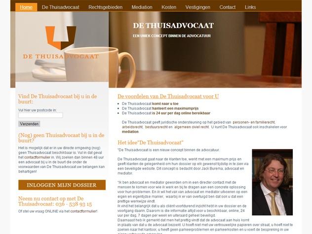 De thuisadvocaat homepage