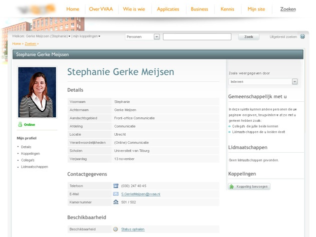 Profielpagina VVAA