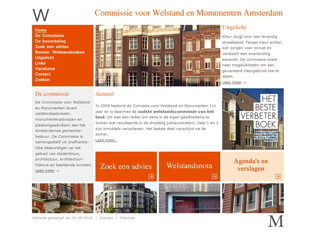 Homepage Welstand Amsterdam