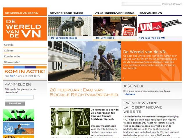 Homepage Wereld van de VN
