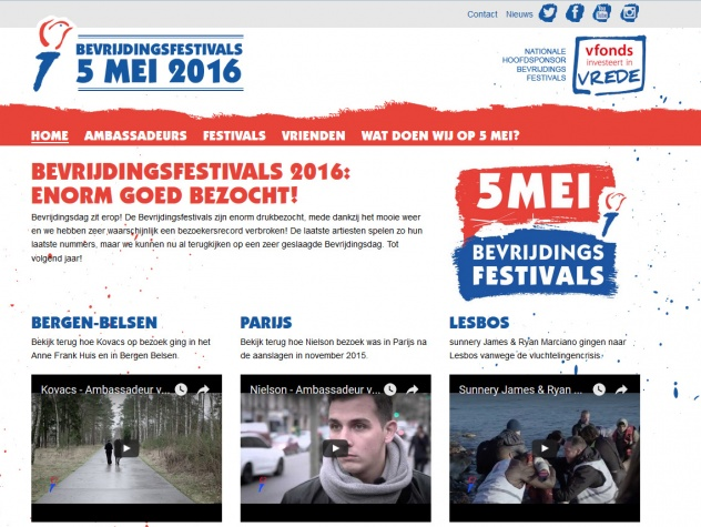 Bevrijdingsfestivals homepage