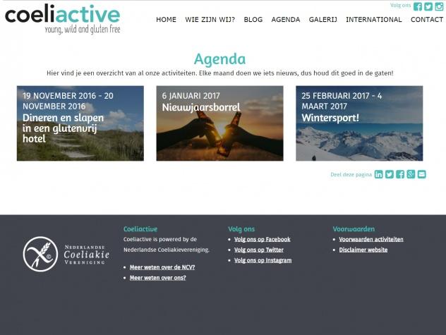 Coeliactive Agenda