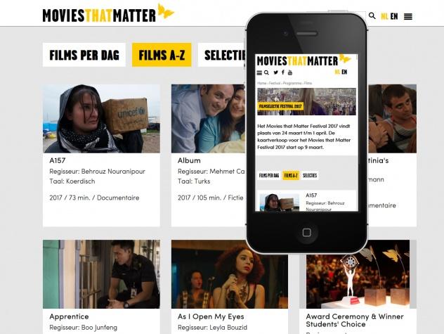 Filmoverzichr Movies that Matterop desktop en mobiel