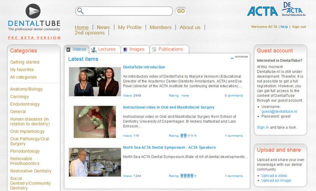 DentalTube: The professional dental community