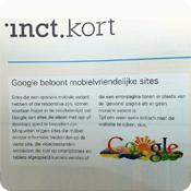 Google beloont mobielvriendelijke sites