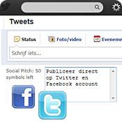 social pitch: direct publiceren op twitter en facebook