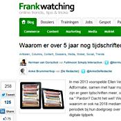artikel op Frankwatching.com